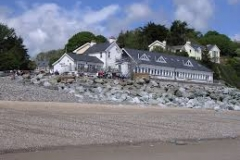 Wisemans Bridge Inn from the beach
