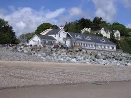 Wisemans Bridge Inn from the beach